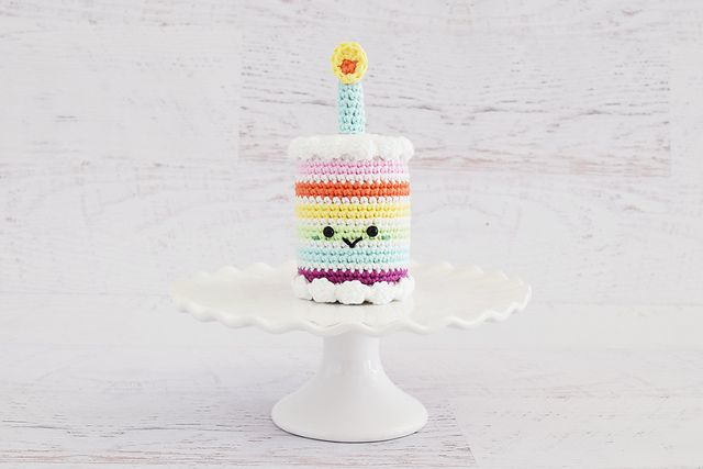 Rainbow Birthday Cake Crochet Pattern