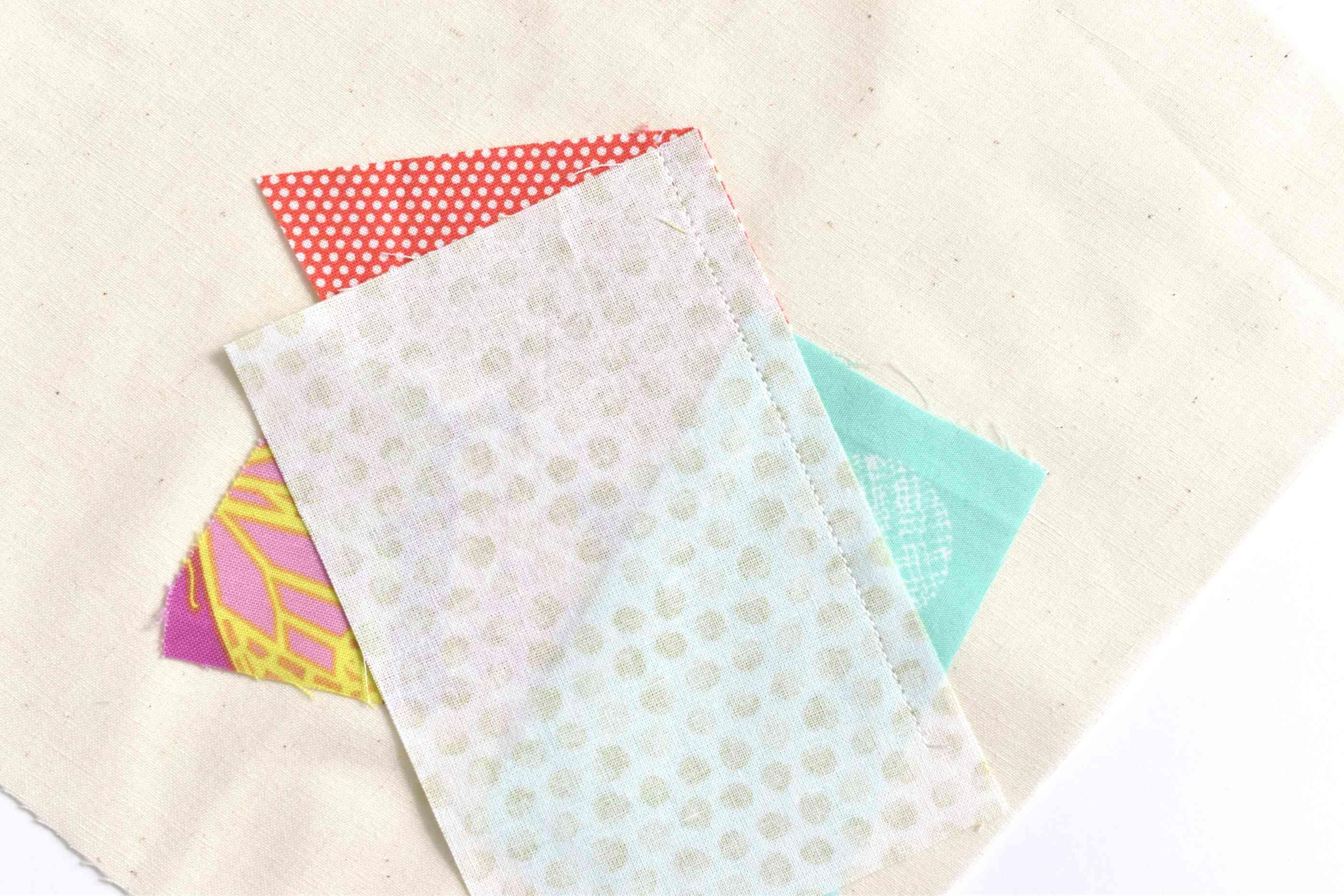 The beginnings of a quilt block