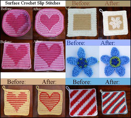 Surface Crochet Slip Stitches
