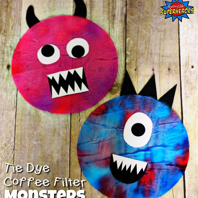 Coffee filter monsters