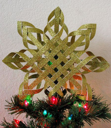 diy woven star tree topper