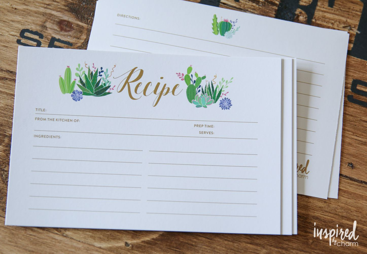 9 Free Printable Recipe Card Sets