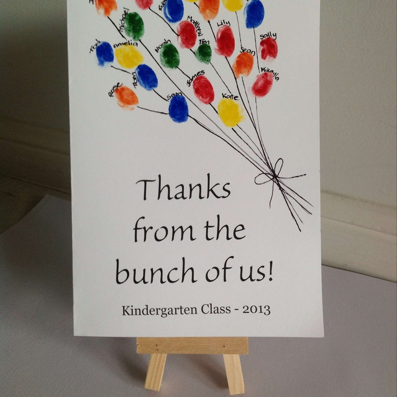 Thumbprint Balloon Card