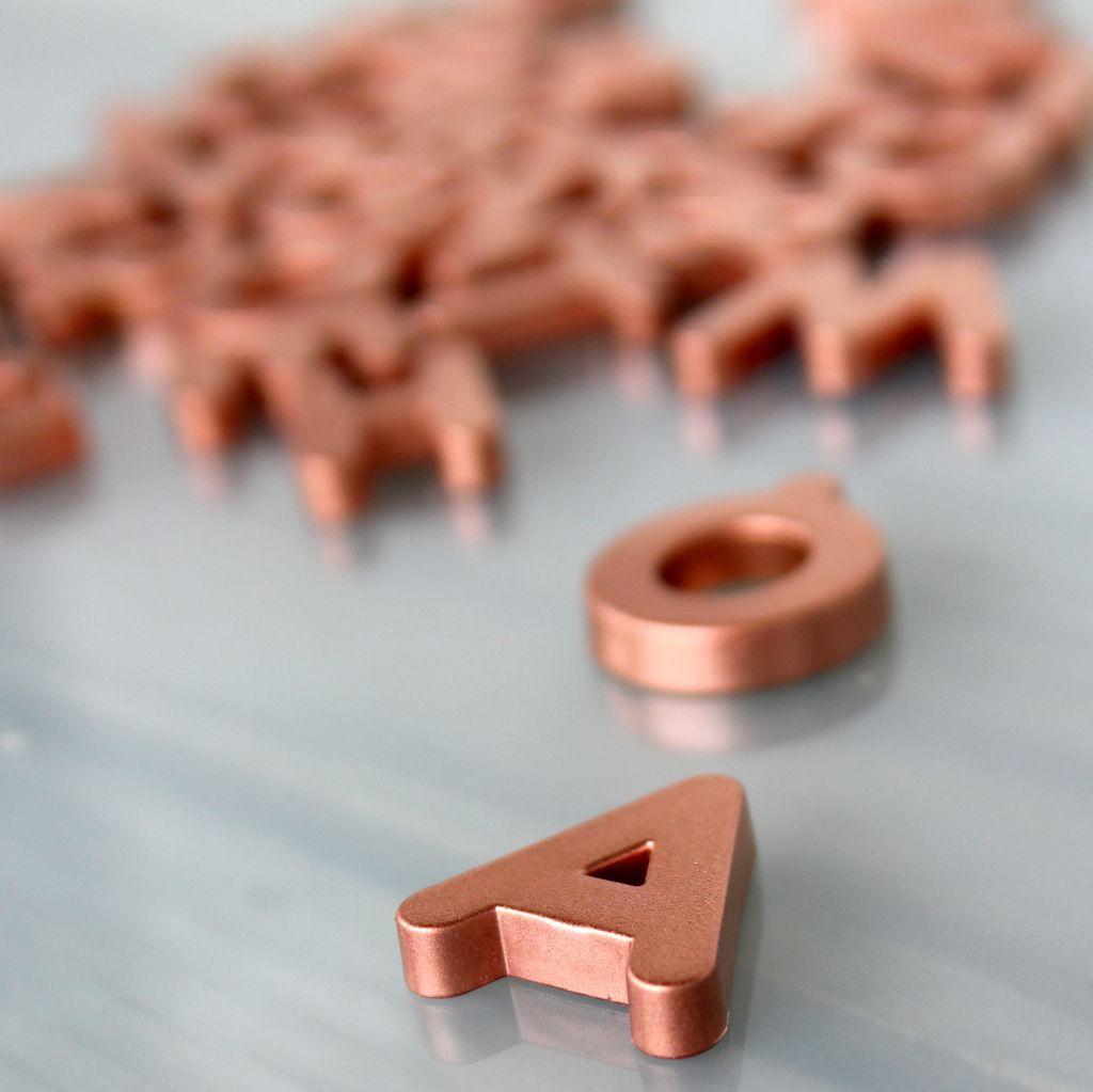 copper letter magnets