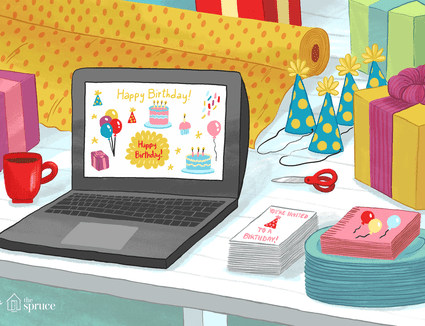 birthday clipart on computer screen