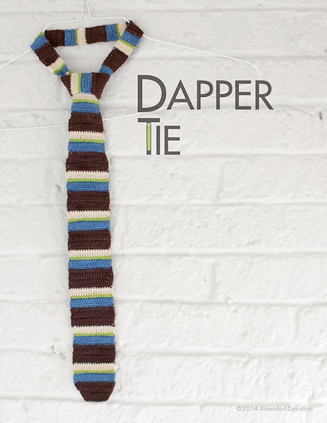 crochet pattern for a dapper tie
