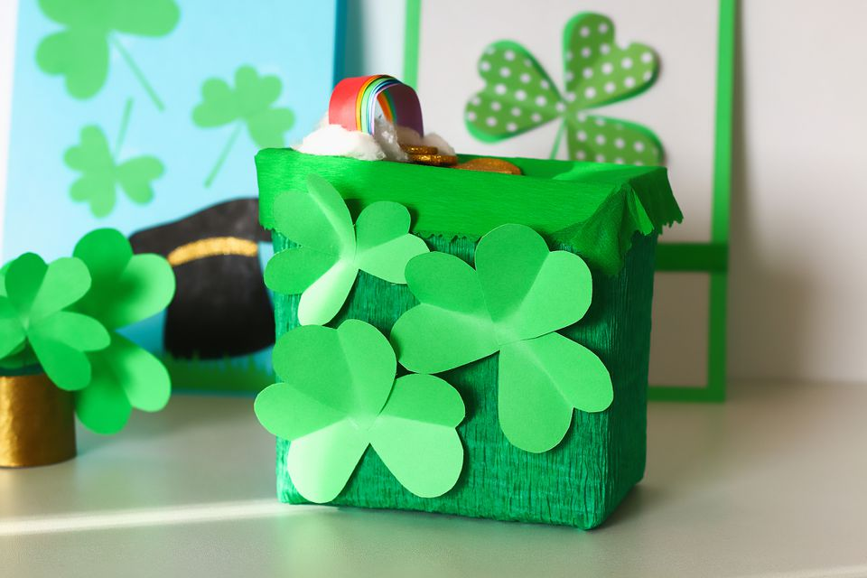 a DIY leprechaun trap