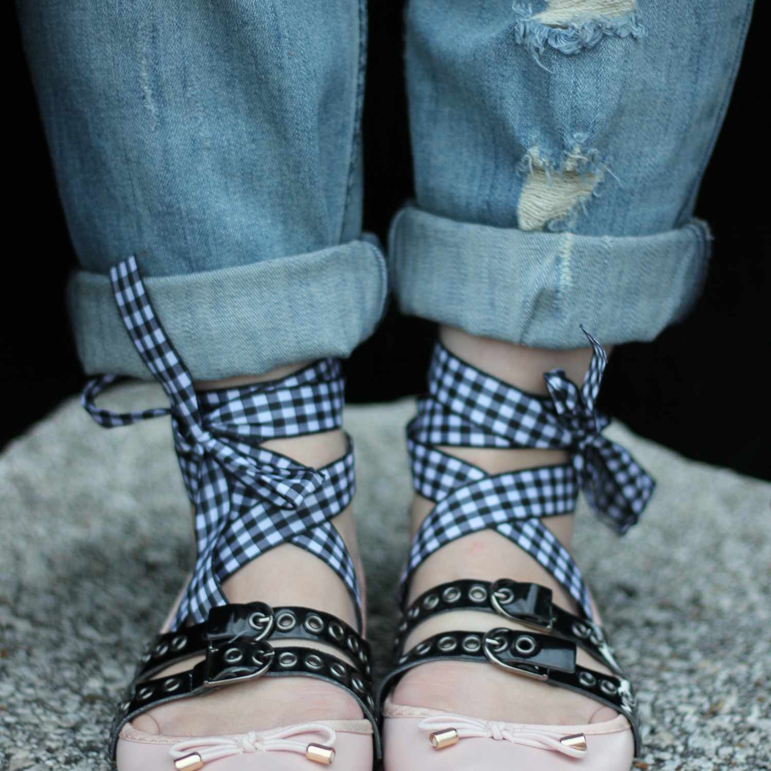 lace up ballet flat craft