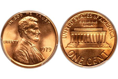 A 1979 Lincoln Memorial Penny Minted At The Philadelphia Mint In Uncirculated Condition