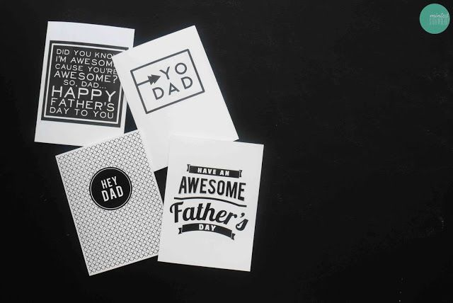 DIY Printable Father's Day Cards