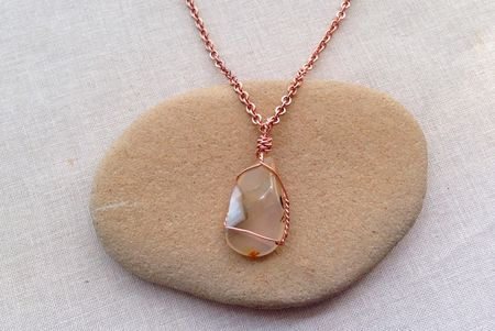 Wrap A Stone Shell Or Beach Glass Into A Pendant