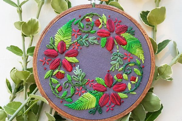 Floral Wreath Pattern for Beginners