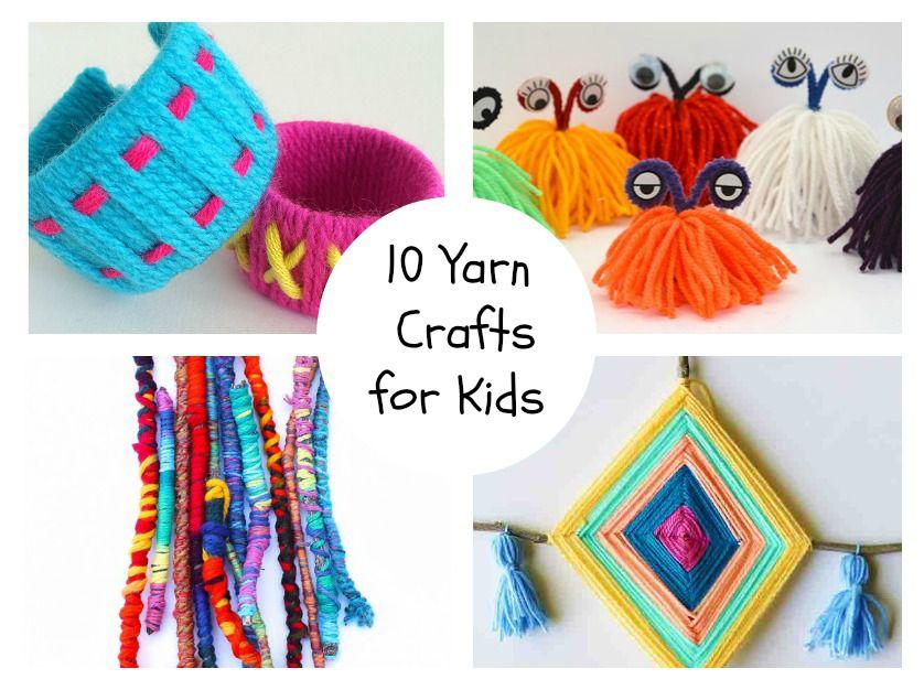 10 Yarn Crafts for Kids
