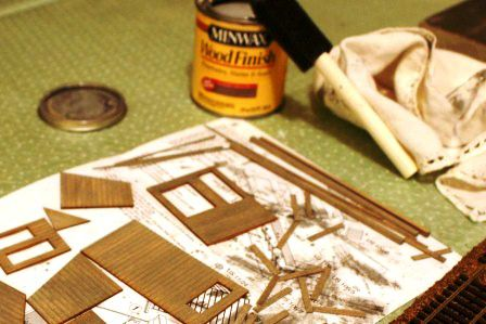 Building Wood Model Structure Kits for Model Railroads