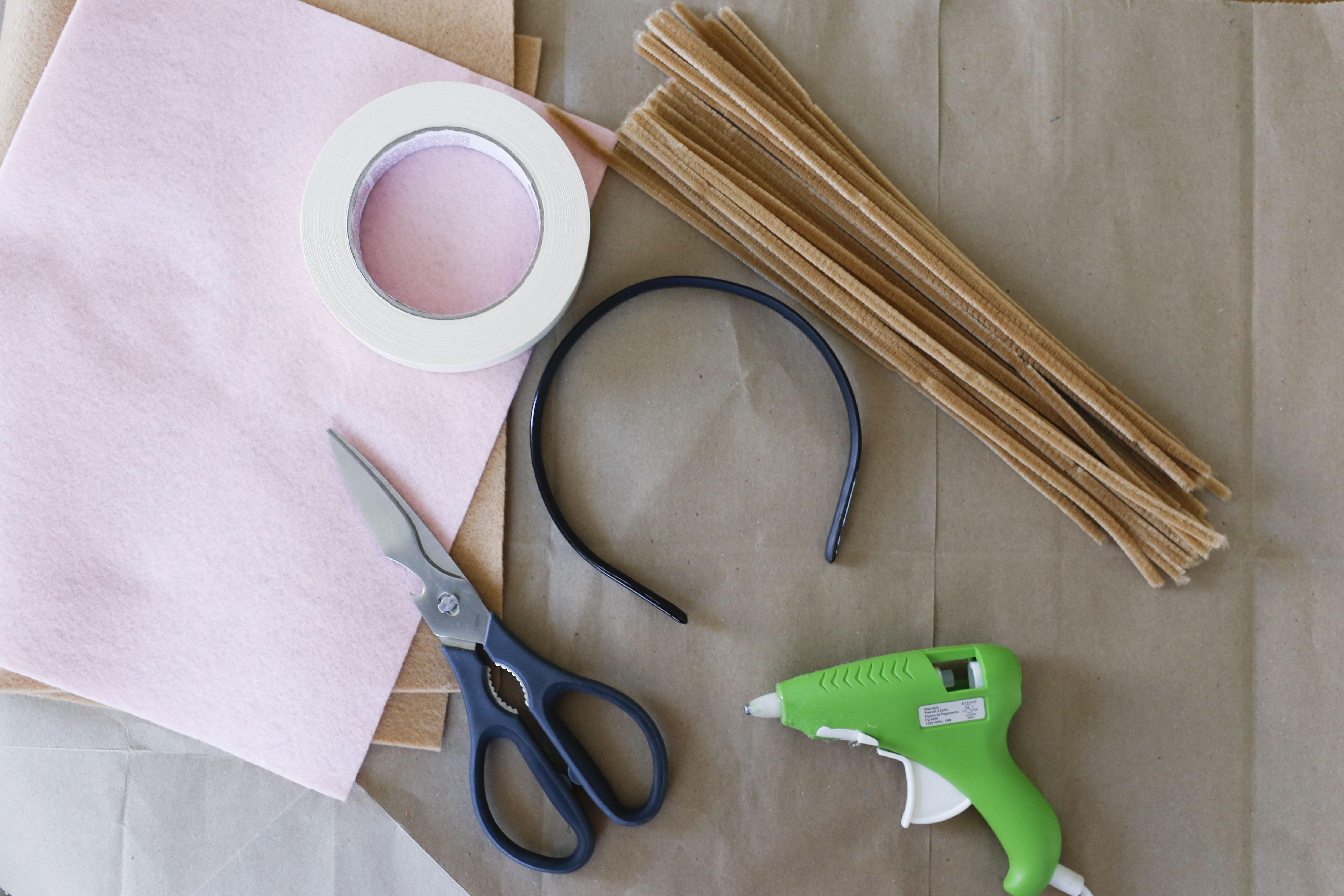 materials for deer ears headband
