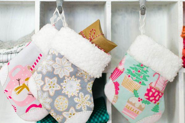 Mini Christmas Stocking Sewing Pattern
