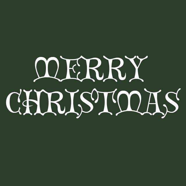 merry christmas in the christmas card font - Christmas Fonts Free
