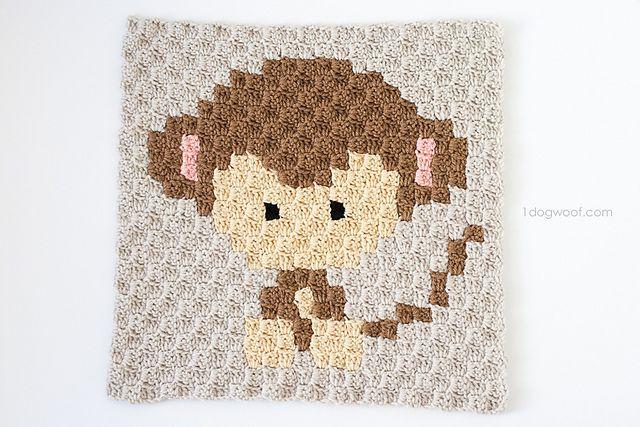 C2C Crochet Monkey