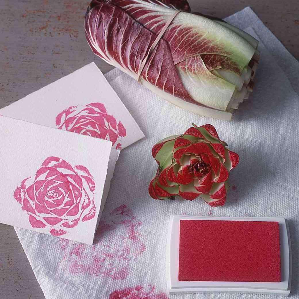 Make Rose Shapes With a Radicchio