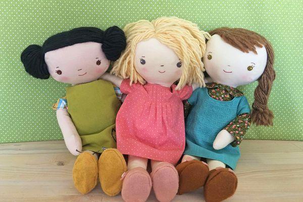Kit, Chloe & Louise Doll Sewing Pattern