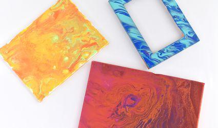 Acrylic pour art pieces