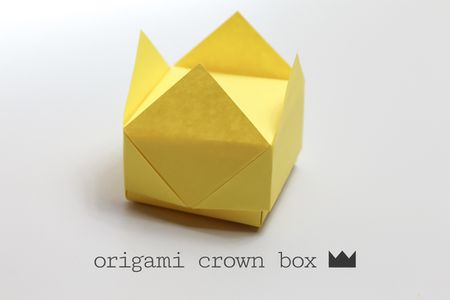 Easy Origami Crown Box Instructions