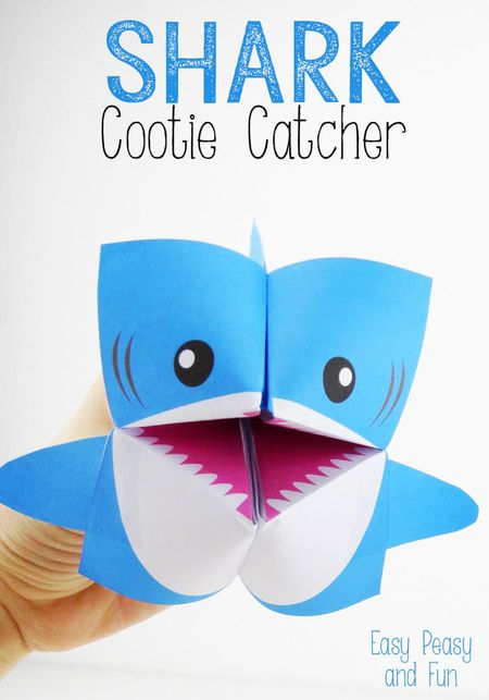 10 creative printable cootie catchers free shark cootie catcher template maxwellsz