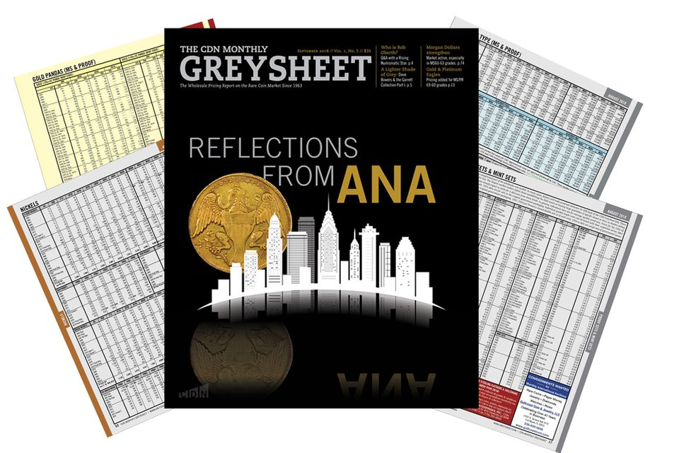 cover and pages of The Coin Dealer Newsletter also called the Graysheet