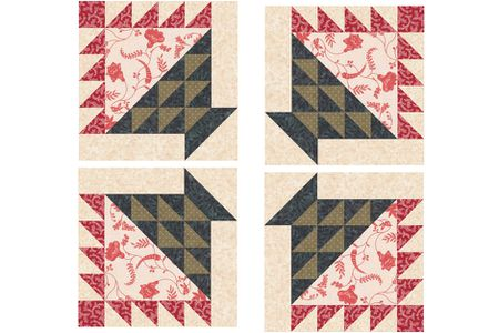 Flower Basket Quilt Block Pattern For Scrap Quilt Fans