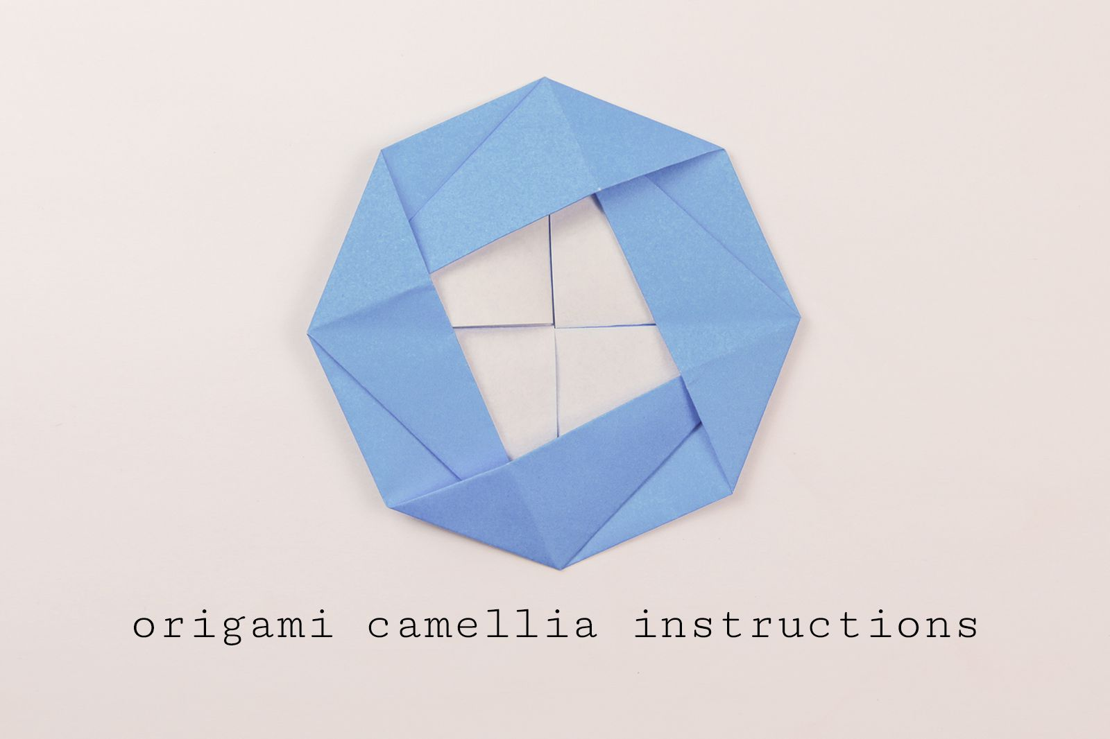 Traditional Origami Camellia Instructions Central Lookup Model Diagrams Stepbystep