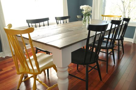 build dining room table. A Farmhouse Table With Mismatched Chairs Build Dining Room