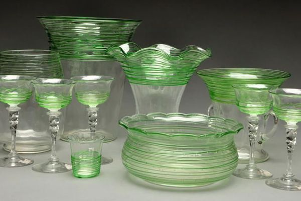 Steuben Glassware Decorated with Threading and Reeding