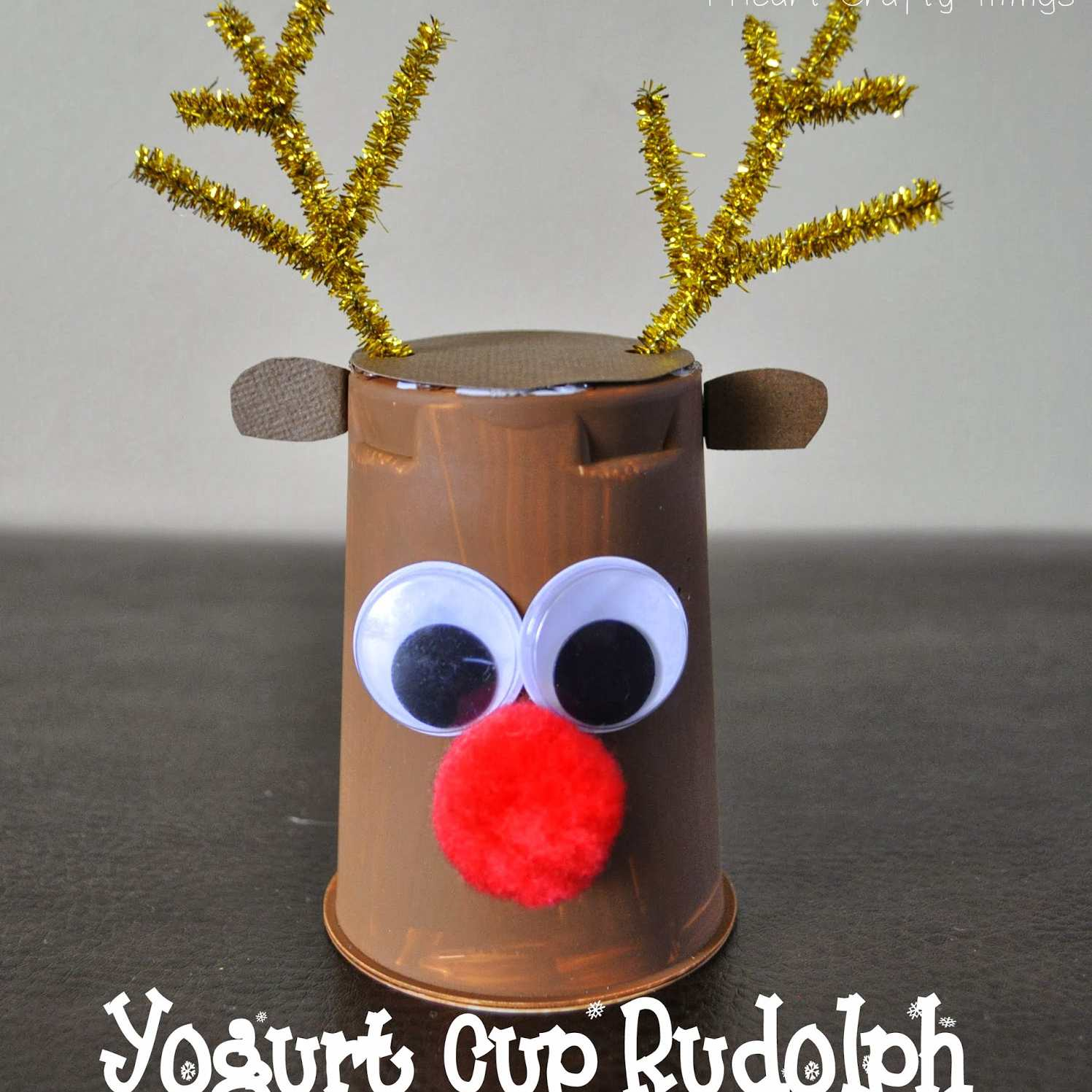 Yogurt Cup Rudolph