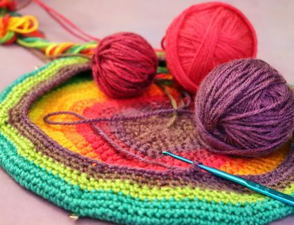 It's Time for Craft Projects - Crocheting Rainbow Beret
