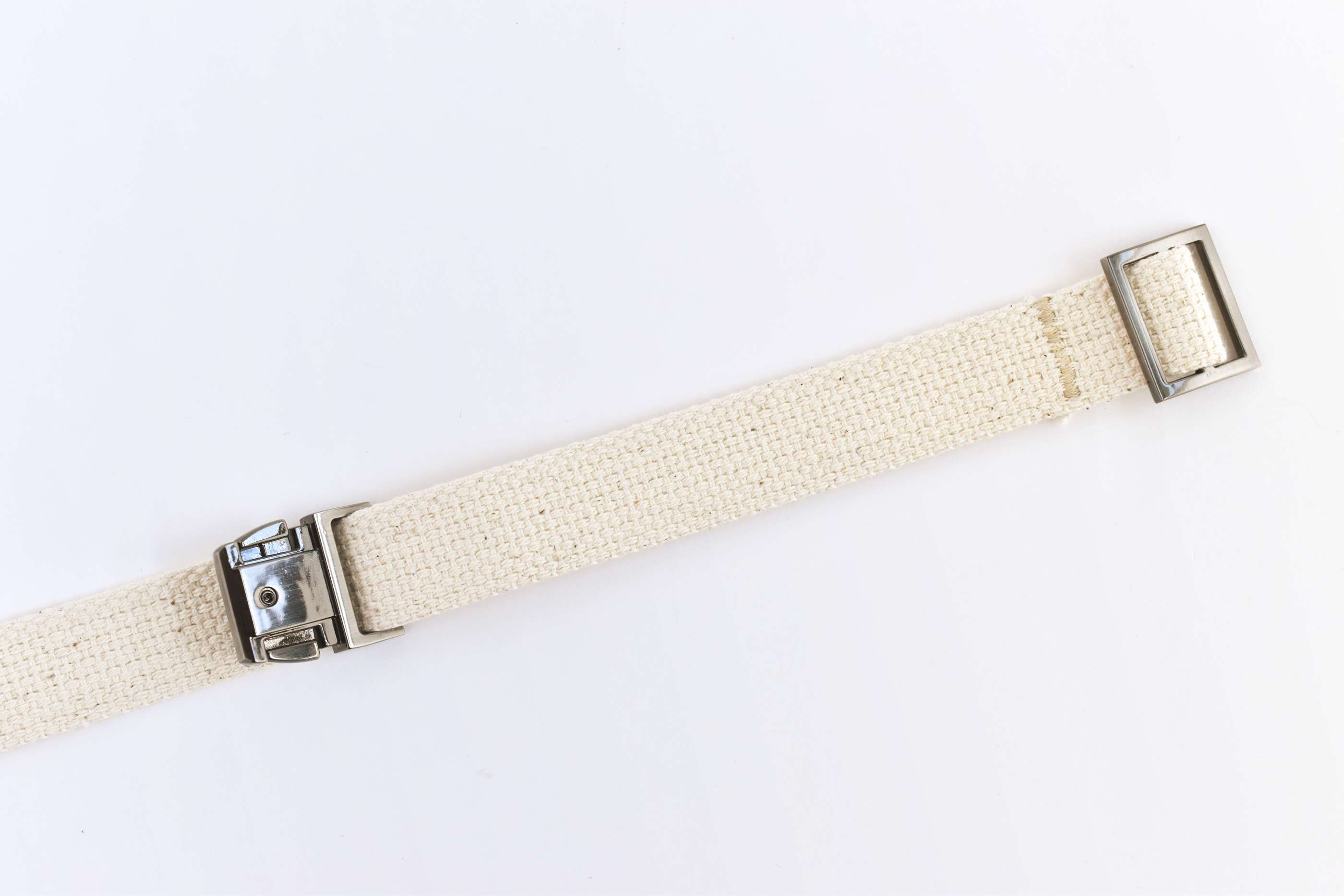 Sew on the Adjuster Buckle and Slide on a Main Buckle Piece