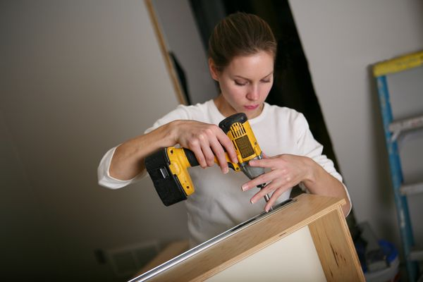 Constructing drawers during a remodel