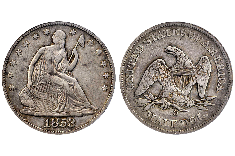 1853-O Liberty Seated Half Dollar - No Arrows