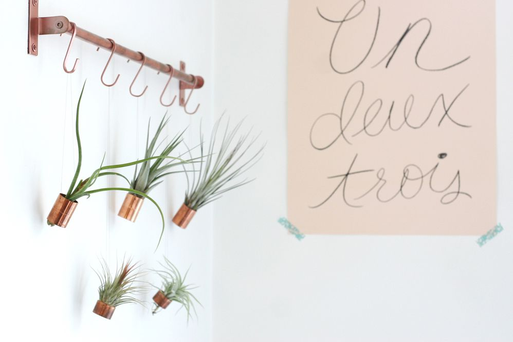 Copper Hanging Air Planters Project