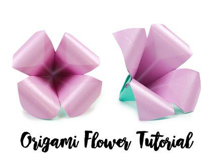 Origami Flower Tutorial 01