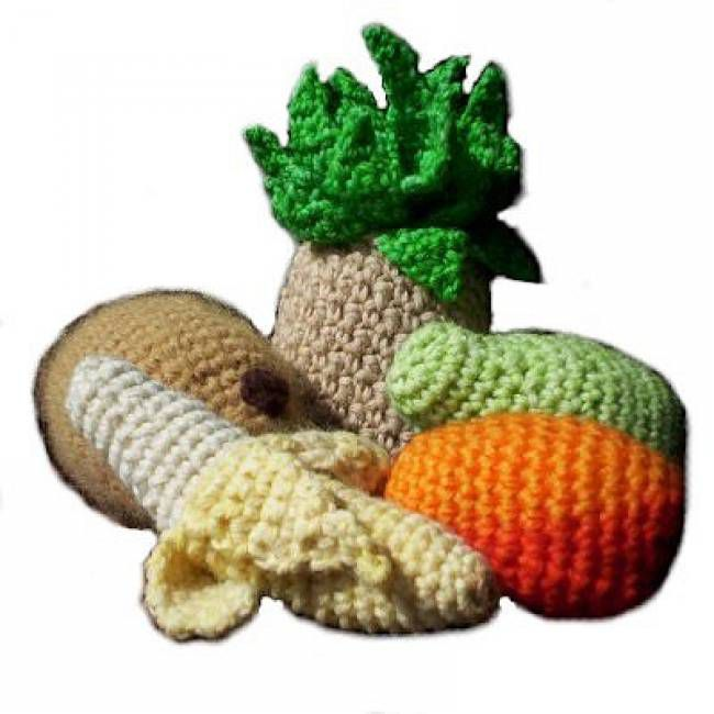 Ready-to-create kit to crochet 5 fruits and vegetables per day ... | 650x650