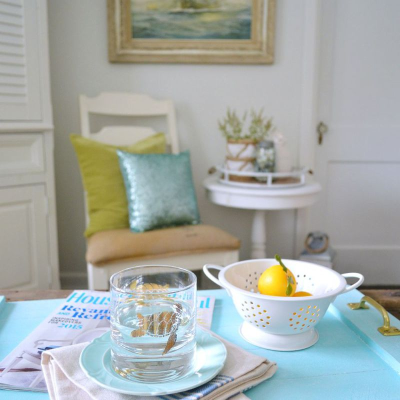 Simple Serving Tray - A Coastal Home Decor DIY