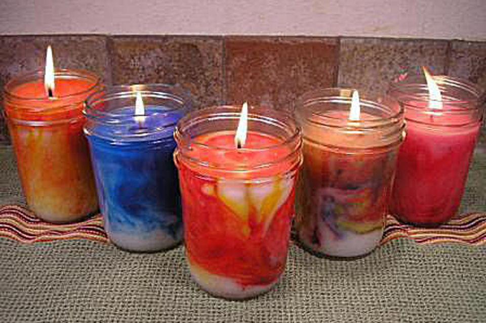 swirled candles