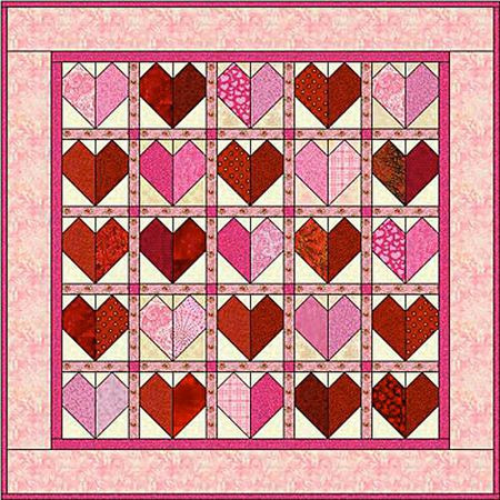 Patchwork Hearts Quilt Block Pattern Amazing Heart Quilt Pattern