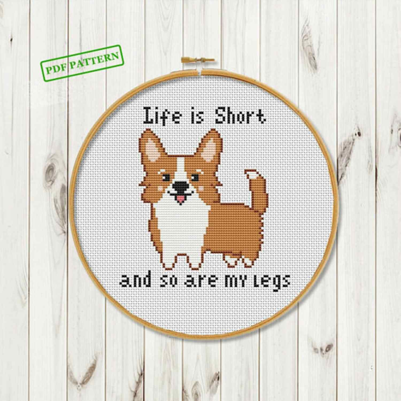 Life Is Short cross stitch