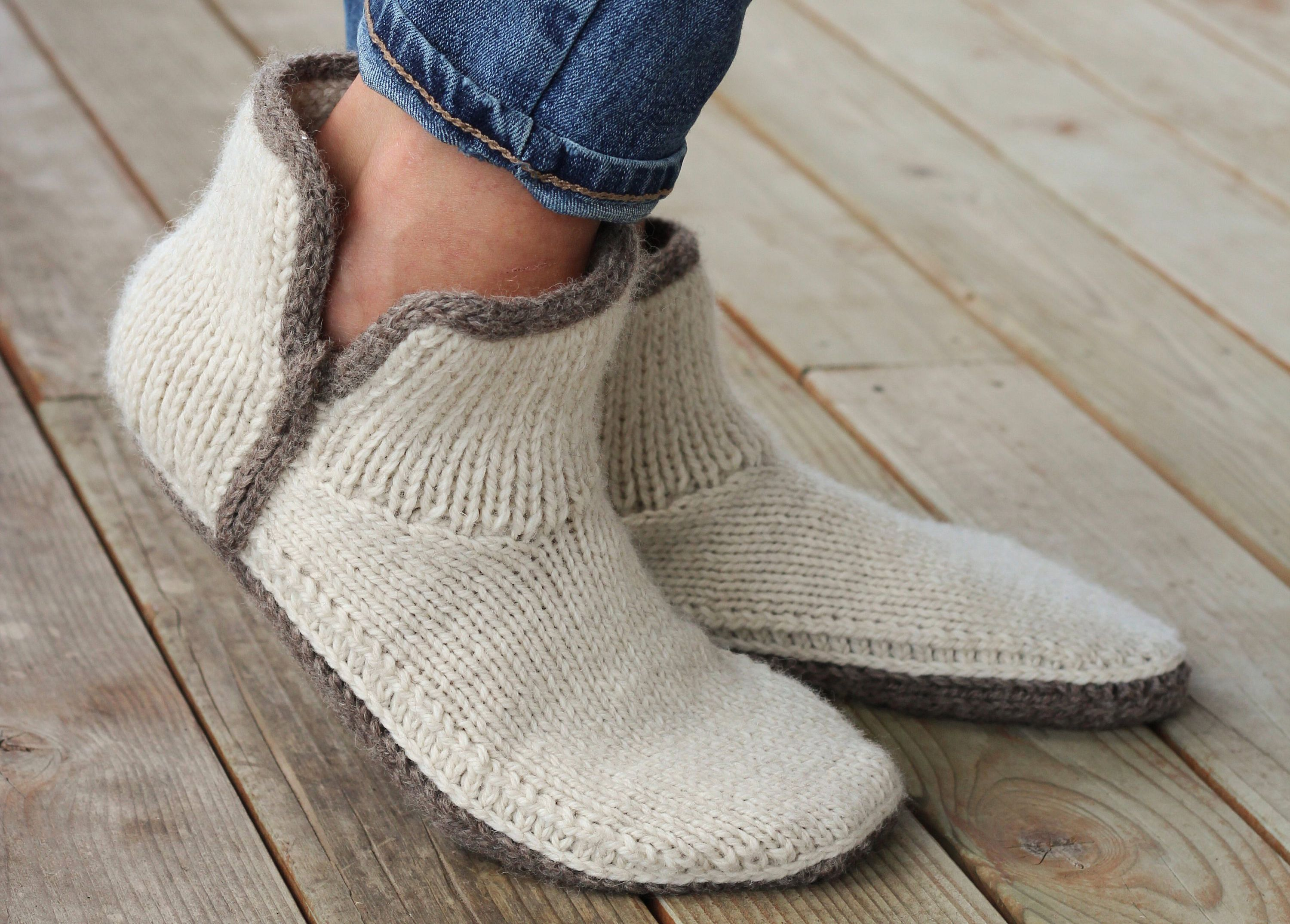 Modern Mocs Knitting Pattern