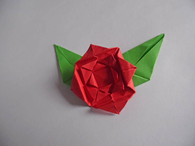 Instructions for an easy origami rose complete your origami rose mightylinksfo