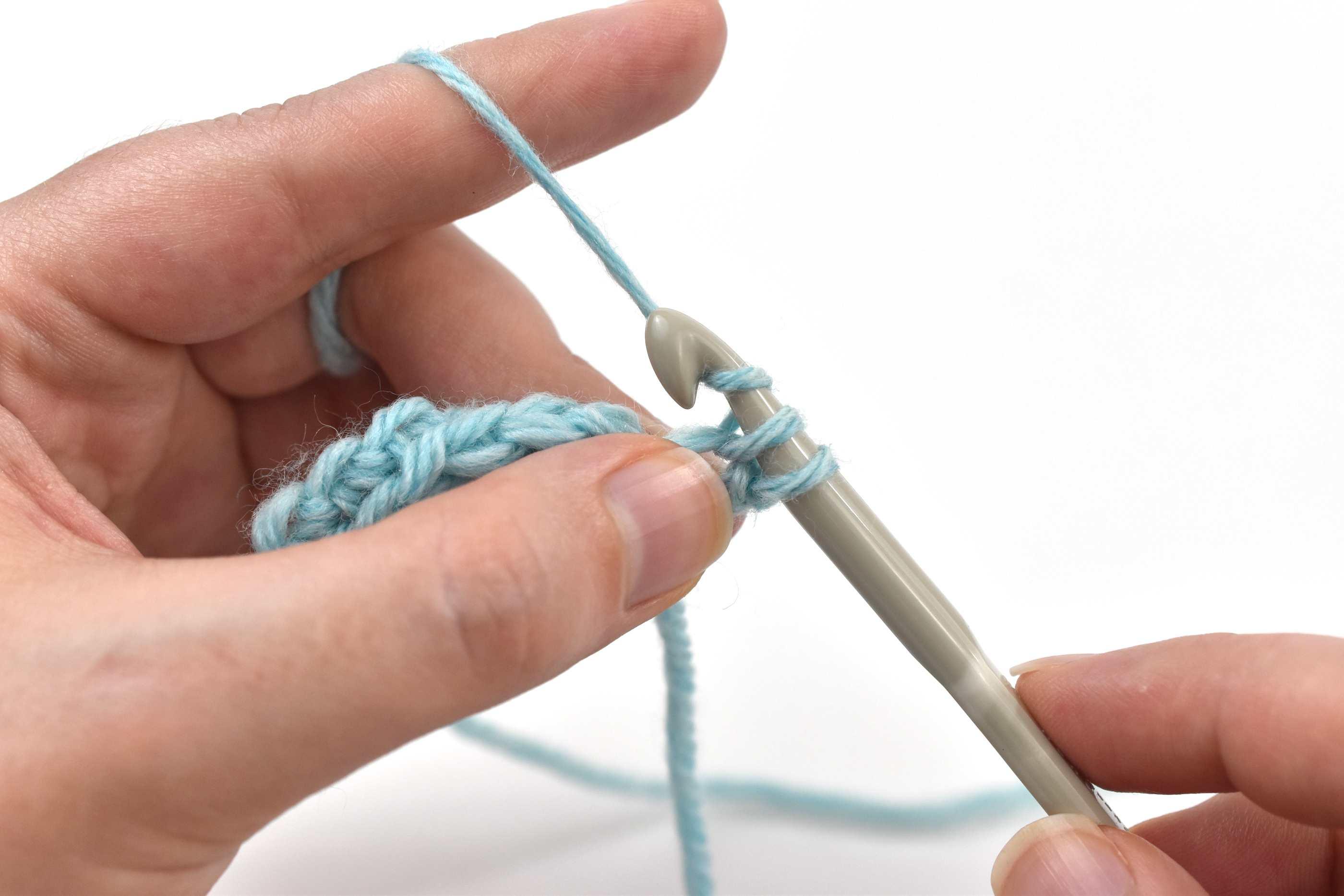 Hook the yarn