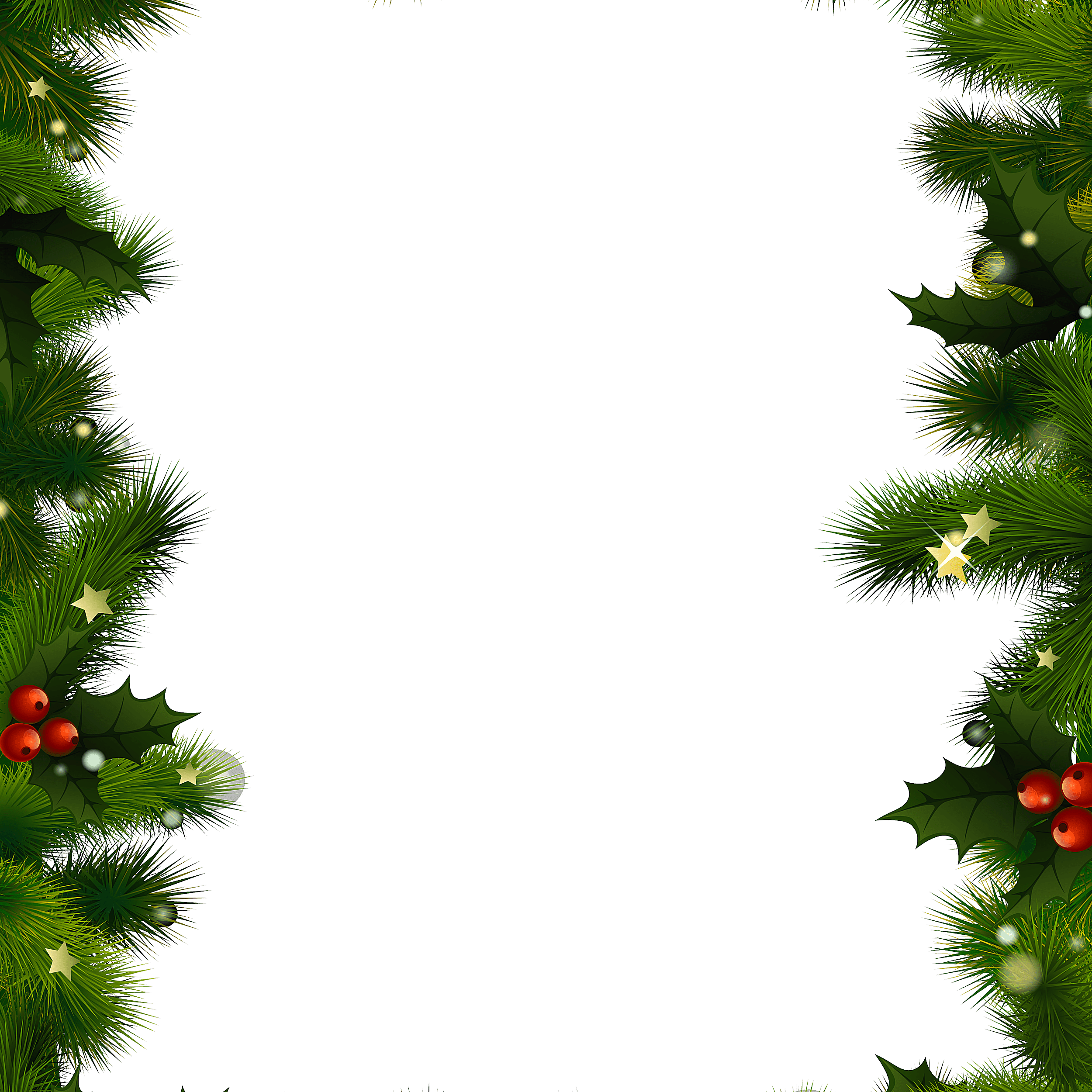 a christmas border with evergreen and berries - Christmas Borders Free