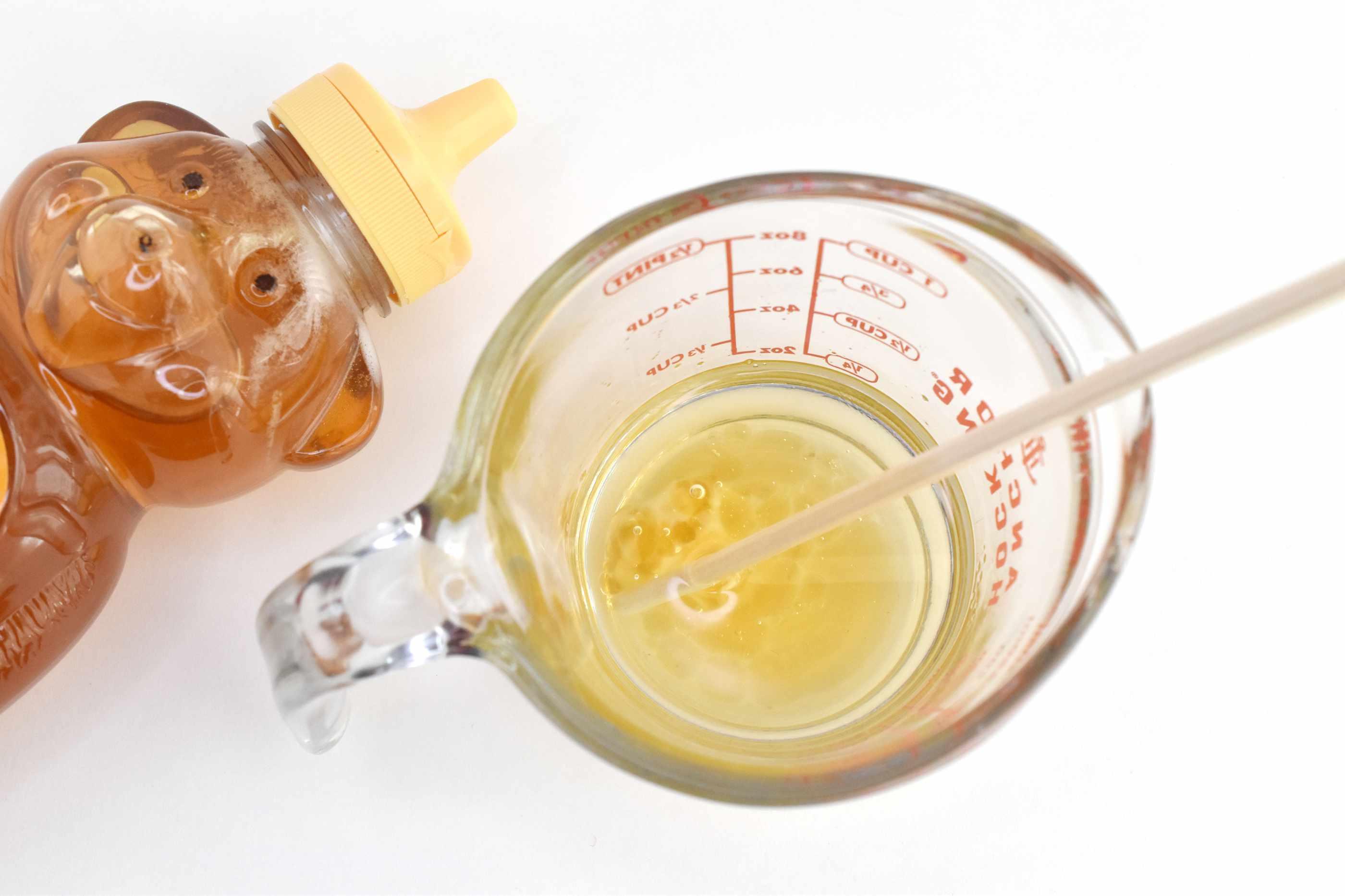 Add Honey to Lip Balm Mixture and Stir Well
