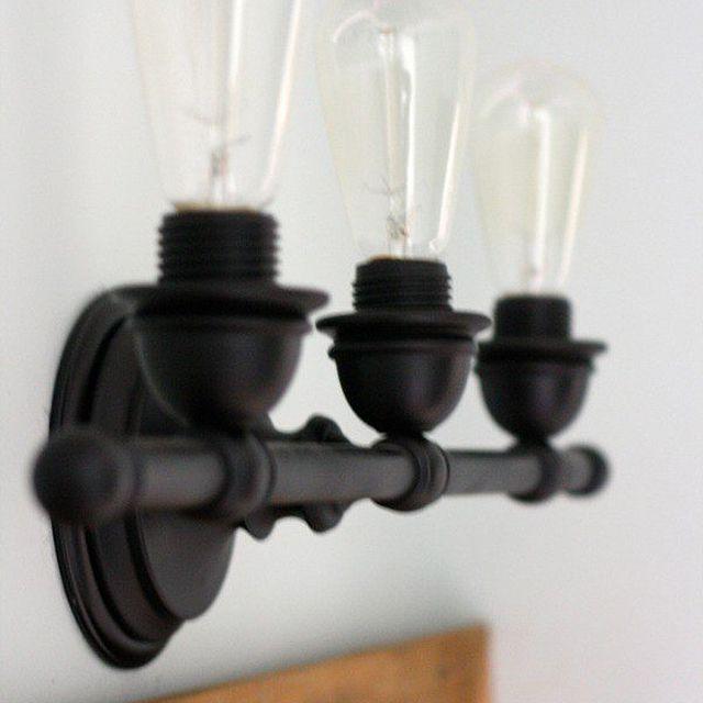 DIY bathroom light fixtures